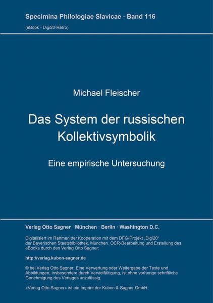 Das System der russischen Kollektivsymbolik - Coverbild