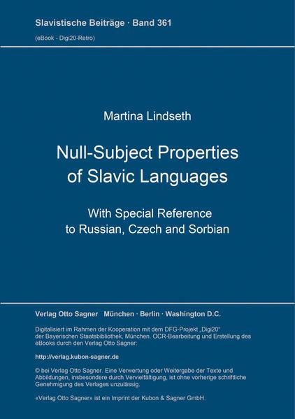 Null-subject properties of Slavic languages - Coverbild