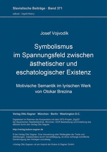 Symbolismus im Spannungsfeld zwischen ästhetischer und eschatologischer Existenz - Coverbild