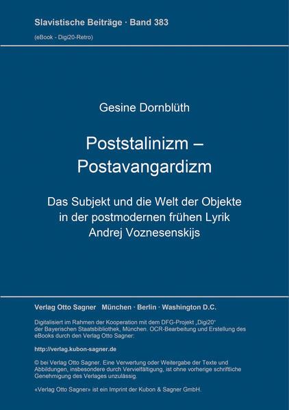 Poststalinizm Postavangardizm - Coverbild