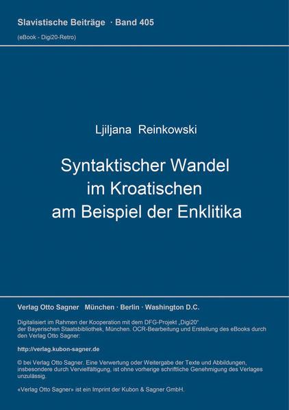 Syntaktischer Wandel im Kroatischen am Beispiel der Enklitika - Coverbild