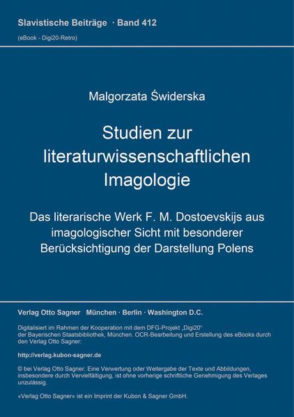 Studien zur literaturwissenschaftlichen Imagologie - Coverbild