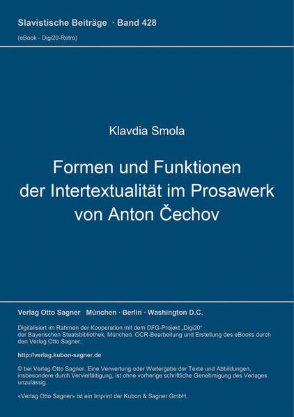 Formen und Funktionen der Intertextualität im Prosawerk von Anton Cechov - Coverbild
