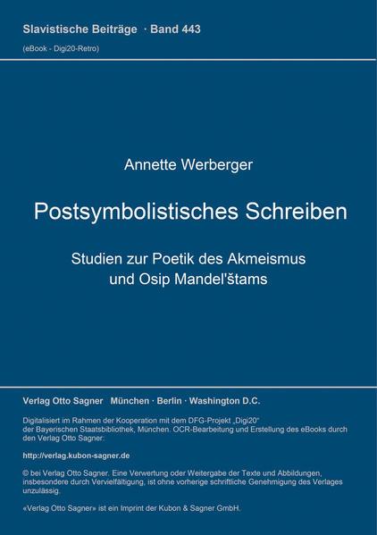 Postsymbolistisches Schreiben - Coverbild