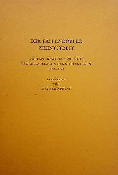 Der Paffendorfer Zehntstreit - Coverbild