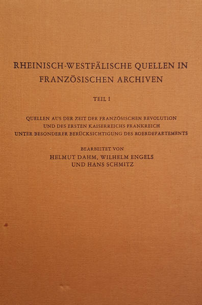 Rheinisch-Westfälische Quellen in französischen Archiven - Coverbild
