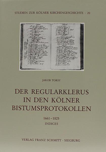 Der Regularklerus in den Kölner Bistumsprotokollen - Coverbild
