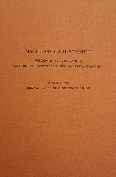 Nachlass Carl Schmitt - Coverbild