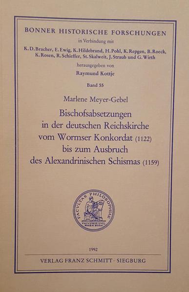 Bischofsabsetzungen in der deutschen Reichskirche vom Wormser Konkordat (1122) bis zum Ausbruch des Alexandrinischen Schismas (1139) - Coverbild