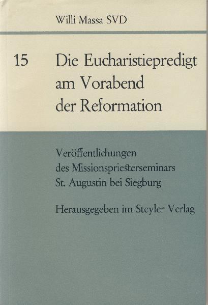 Die Eucharistiepredigt am Vorabend der Reformation - Coverbild