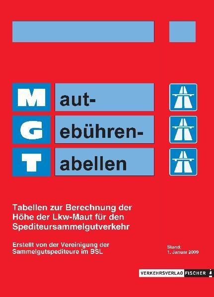 MGT Maut-Gebühren-Tabellen - Coverbild
