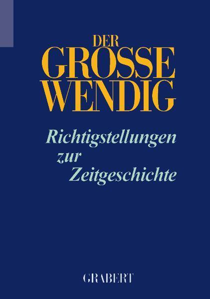 Der Grosse Wendig - Band 1 - Coverbild