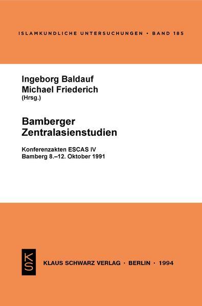 Bamberger Zentralasienstudien - Coverbild