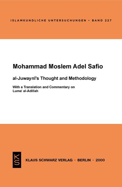 Al-Juwayni's Thought and Methodology - Coverbild