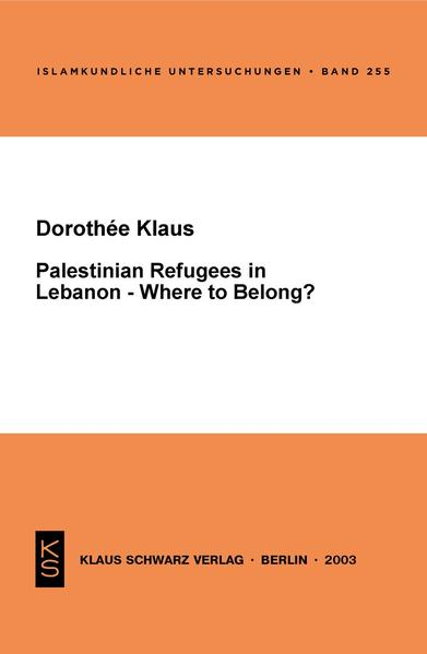 Palestinian Refugees in Lebanon - Where to Belong? - Coverbild