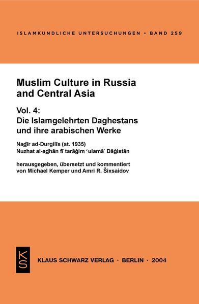 Muslim Culture in Russia and Central Asia - Coverbild