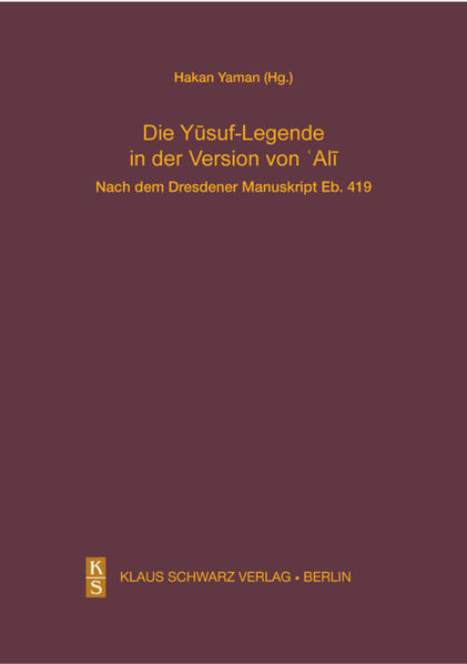 Die Yusuf-Legende in der Version von Ali. - Coverbild