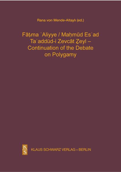Ta'addüd-i Zevcat Zeyl - Continuation of the Debate on Polygamy. - Coverbild