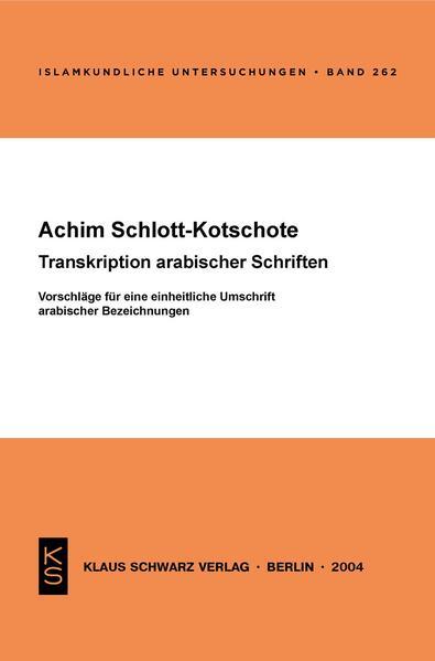 Transkription arabischer Schriften - Coverbild