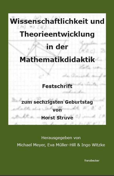 Wissenschaftlichkeit und Theorieentwicklung in der Mathematikdidaktik - Coverbild