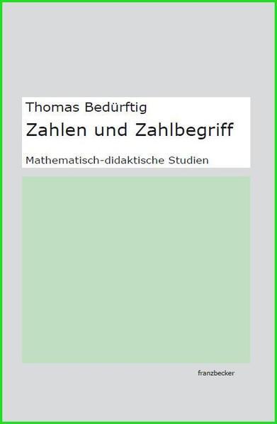 Zahlen und Zahlbegriff - Coverbild