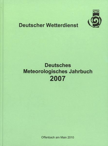 Deutsches Meteorologisches Jahrbuch. Bundesrepublik Deutschland / Deutsches Meteorologisches Jahrbuch - Coverbild