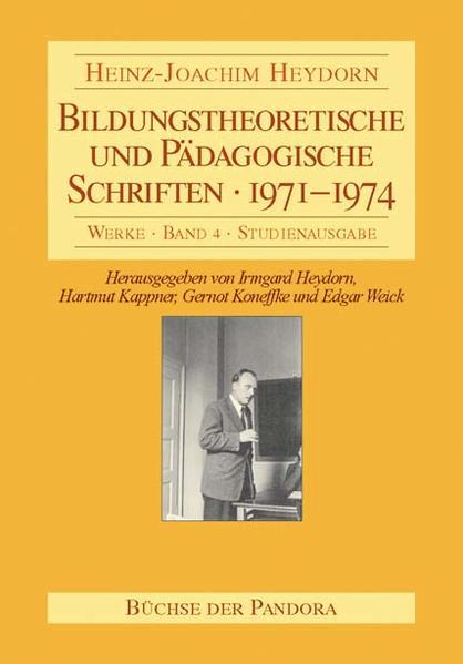 Bildungstheoretische und Pädagogische Schriften - 1971-1974 - Coverbild