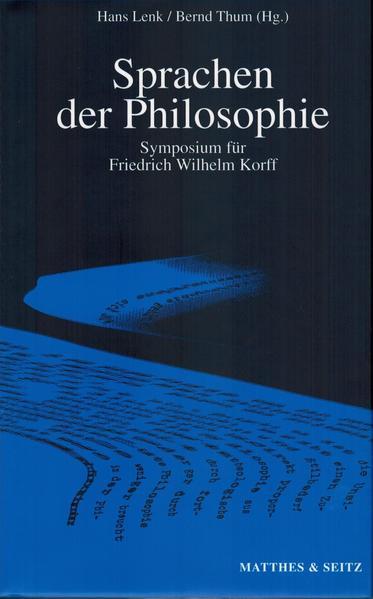 Sprachen der Philosophie - Coverbild