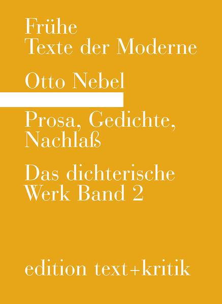 Prosa, Gedichte, Nachlaß - Coverbild