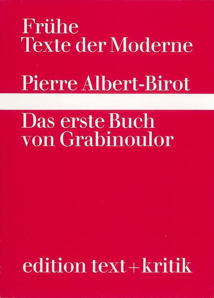 Das erste Buch von Grabinoulor - Coverbild