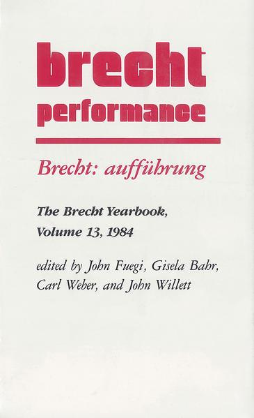 Brecht: aufführung - Coverbild