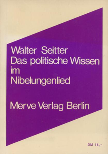 Das politische Wissen im Nibelungenlied - Coverbild