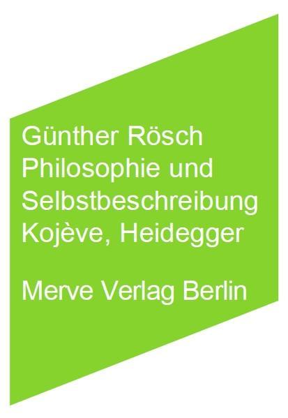 Philosophie und Selbstbeschreibung - Coverbild