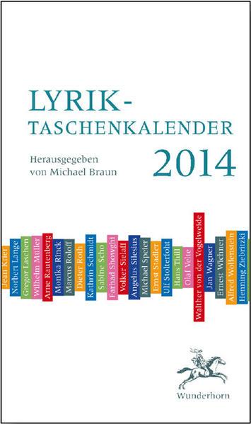 Lyrik-Taschenkalender 2014 - Coverbild