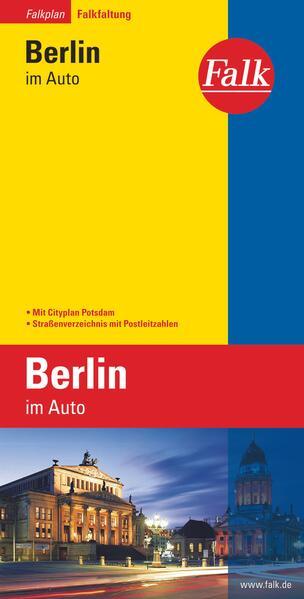Falk Falkplan Falkfaltung Berlin im Auto mit Cityplan Potsdam 1: 24 500-1:40 000 - Coverbild
