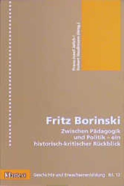 Fritz Borinski - Zwischen Pädagogik und Politik - Coverbild