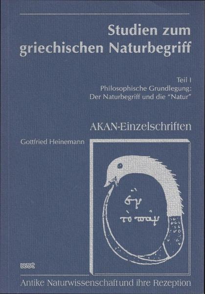 Studien zum griechischen Naturbegriff - Coverbild