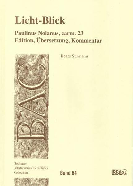 Licht-Blick: Paulinus Nolanus, carm. 23 - Coverbild