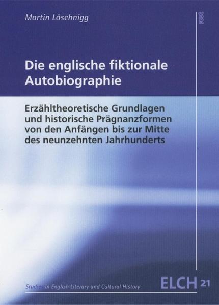 Die englische fiktionale Autobiographie - Coverbild
