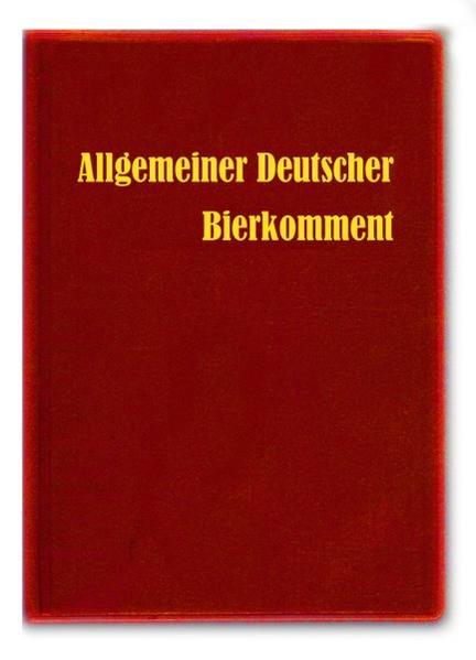 Allgemeiner Deutscher Bierkomment - Coverbild