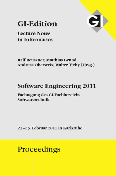 GI Edition Proceedings Band 184 Software Engineering 2011 - Bd. 2 Workshopband - Coverbild
