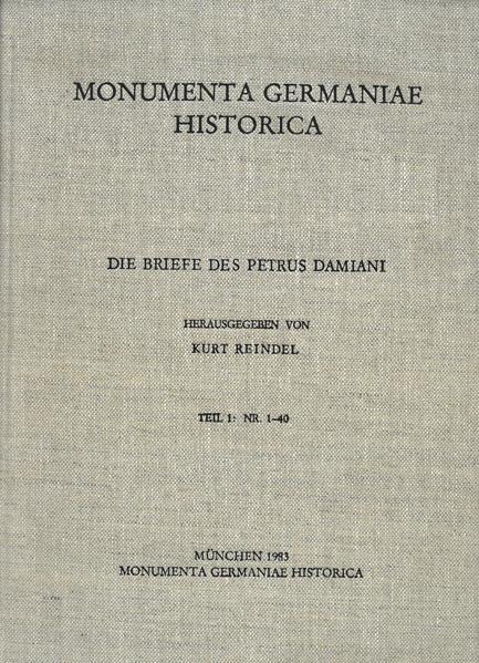 Die Briefe der deutschen Kaiserzeit / Die Briefe des Petrus Damiani - Coverbild