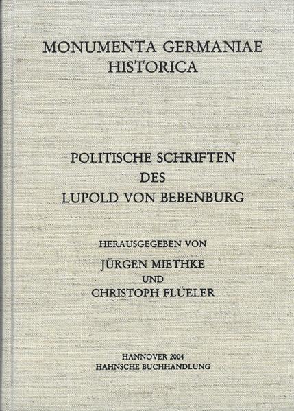 Politische Schriften des Lupold von Bebenburg - Coverbild