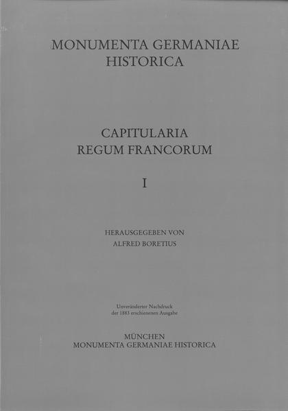 Capitularia regum Francorum 1 - Coverbild