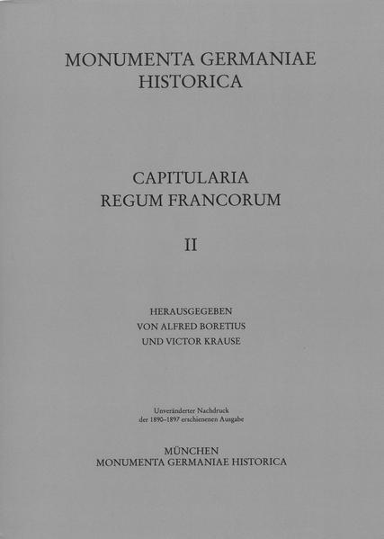Capitularia regum Francorum 2 - Coverbild