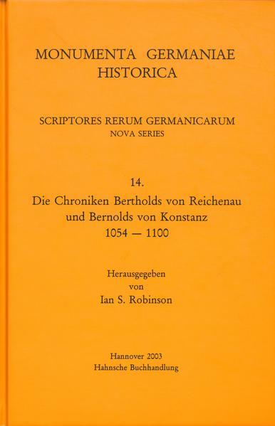Die Chroniken Bertholds von Reichenau und Bernolds von Konstanz 1054-1100 - Coverbild