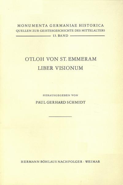 Quellen zur Geistesgeschichte des Mittelalters / Otloh von St. Emmeram, Liber visionum - Coverbild