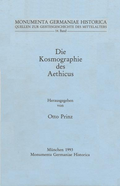Quellen zur Geistesgeschichte des Mittelalters / Die Kosmographie des Aethicus - Coverbild