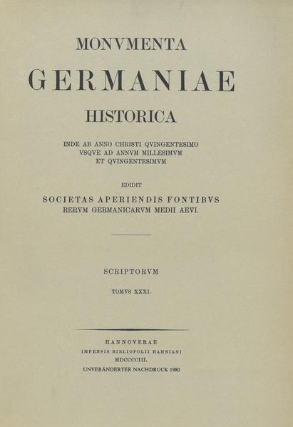 Annales et chronica Italica aevi Suevici - Coverbild