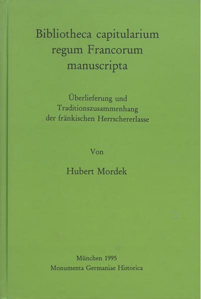 Hilfsmittel / Bibliotheca capitularium regum Francorum manuscripta - Coverbild